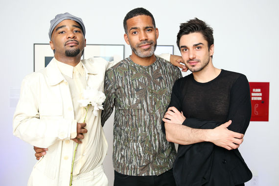 Whitney studio party 2018   jacolby satterwhite cy gavin and guest   credit bfa carl timpone